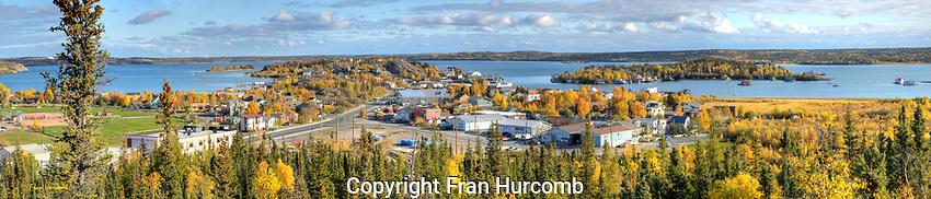Autumn pano of Yellowknife's Old Town