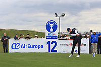 Matt Wallace (ENG) on the 12th tee during Round 2 of the Open de Espana 2018 at Centro Nacional de Golf on Friday 13th April 2018.<br /> Picture:  Thos Caffrey / www.golffile.ie<br /> <br /> All photo usage must carry mandatory copyright credit (&copy; Golffile | Thos Caffrey)