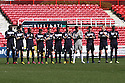 Stevenage players take part in a minute's applause. Swindon Town v Stevenage - npower League 1 -  County Ground, Swindon - 20th April, 2013. © Kevin Coleman 2013..