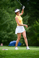 Michelle Wie (USA) watches her tee shot on 8 during Thursday's first round of the 72nd U.S. Women's Open Championship, at Trump National Golf Club, Bedminster, New Jersey. 7/13/2017.<br /> Picture: Golffile | Ken Murray<br /> <br /> <br /> All photo usage must carry mandatory copyright credit (&copy; Golffile | Ken Murray)