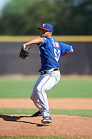 Texas Rangers pitcher Domingo Pena (53) during an Instructional League game against the San Diego Padres on October 3, 2016 at the Peoria Sports Complex in Peoria, Arizona.  (Mike Janes/Four Seam Images)