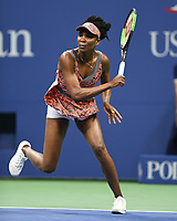 FLUSHING NY- AUGUST 30: Venus Williams Vs Oceane Dodin on Arthur Ashe Stadium during the US Open at the USTA Billie Jean King National Tennis Center on August 30, 2017 in Flushing Queens. Credit: mpi04/MediaPunch ***NO NY DAILIES***
