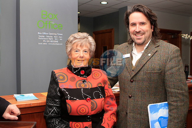 Nelly Fisher with Louth Arts Officer Brian Harten at the walking tour of Drogheda...Photo NEWSFILE/Jenny Matthews..(Photo credit should read Jenny Matthews/NEWSFILE)
