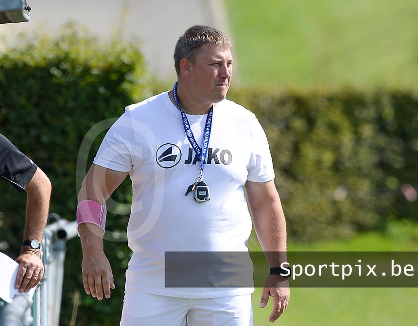 DVK Egem - Club Brugge Dames B :  Egem coach Jurgen Wielfaert <br /> Foto David Catry | VDB | Bart Vandenbroucke