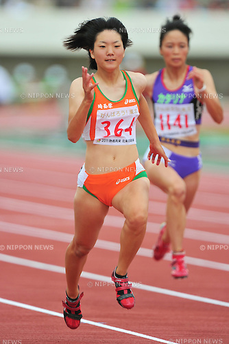 Anna Doi, August 4, 2011 - Athletics : 2011 All-Japan Inter High School Championships, Women's 100m .at Kitakami, Iwate, Japan. (Photo by Jun Tsukida/AFLO SPORT) [0003]