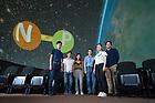 July 12, 2017; Tan Ahn and associates in Digital Visualization Theater (Photo by Matt Cashore/University of Notre Dame)