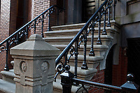 Cast Iron railings is pictured on a Brooklyn Heights building in the New York City borough of Brooklyn, NY, Monday August 1, 2011.