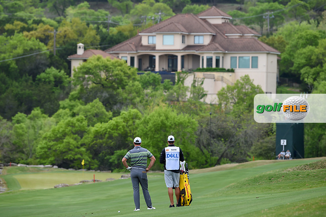 Jon Rahm (ESP) looks over his approach shot on 2 during day 3 of the WGC Dell Match Play, at the Austin Country Club, Austin, Texas, USA. 3/29/2019.<br /> Picture: Golffile | Ken Murray<br /> <br /> <br /> All photo usage must carry mandatory copyright credit (© Golffile | Ken Murray)