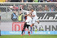 Kopfball Marcelo (Hannover) zum 2:1 - Eintracht Frankfurt vs. Hannover 96, Commerzbank Arena