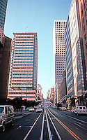 San Francisco:  California St., Bank of America at left.  Photo '83.