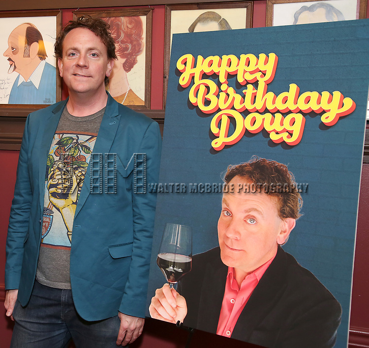 "Drew Droege During the ""Happy Birthday Doug"" photo call at Sardi's Restaurant on February 5, 2020 in New York City."