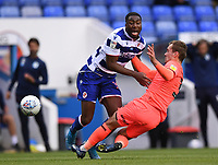 7th July 2020; Madejski Stadium, Reading, Berkshire, England; English Championship Football, Reading versus Huddersfield; Harry Toffolo of Huddersfield tackles Yakou Meite of Reading and concedes a free kick for the foul