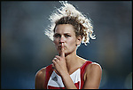 High jump, women, Heike Henkel (Germany) gold, Summer Olympics, Barcelona, Spain August, 1992