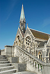 Harrow Public School chapel and stone staircase, Harrow on the Hill, London, England
