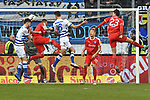 02.12.2018, Schauinsland-Reisen-Arena, Duisburg, GER, 2. FBL, MSV Duisburg vs. Holstein Kiel, DFL regulations prohibit any use of photographs as image sequences and/or quasi-video<br /> <br /> im Bild Strafraumszene . Torchance von Dustin Bomheuer (#4, MSV Duisburg) Lukas Fr&ouml;de / Froede (#16, MSV Duisburg)  <br /> <br /> Foto &copy; nordphoto/Mauelshagen