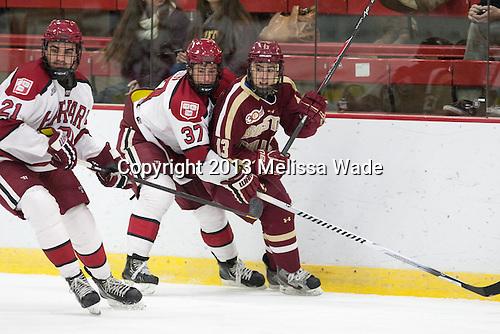 Tommy O'Regan (Harvard - 21), Desmond Bergin (Harvard - 37), Johnny Gaudreau (BC - 13) - The visiting Boston College Eagles defeated the Harvard University Crimson 5-1 on Wednesday, November 20, 2013, at Bright-Landry Hockey Center in Cambridge, Massachusetts.
