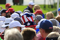 US fans during Thursday's Practice Day of the 41st RyderCup held at Hazeltine National Golf Club, Chaska, Minnesota, USA. 29th September 2016.<br /> Picture: Eoin Clarke | Golffile<br /> <br /> <br /> All photos usage must carry mandatory copyright credit (&copy; Golffile | Eoin Clarke)