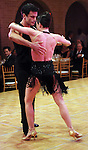 Monsour Taghdisi and his partner Dawn Scannell perform at the Dancing with the Houston Stars event benefitting the Houston Ballet at the home of John and Becca Thrash  Friday Sept. 24, 2010. (Dave Rossman/For the Chronicle)