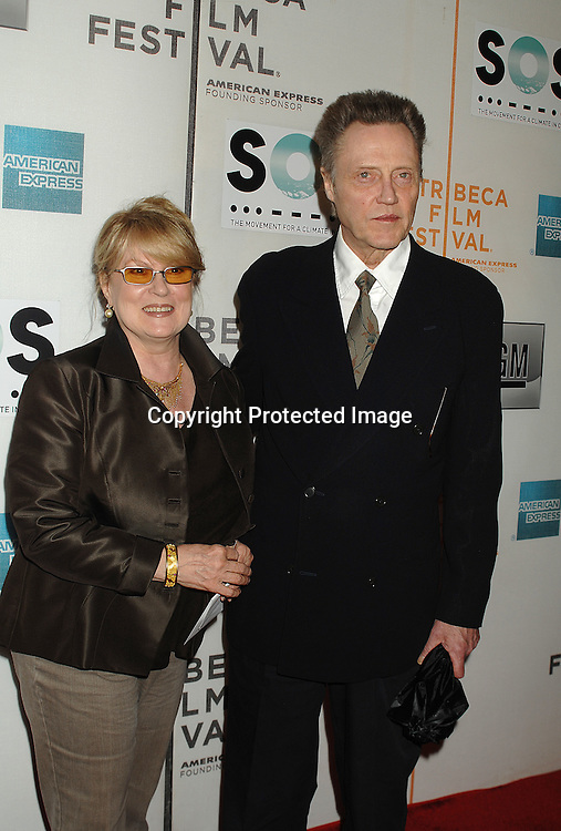 Georgianne and Christopher Walken..arriving to The Opening Night of The Tribeca Film Festival ..on April 25, 2007 at BMCC TribecaPac in New York City. ..Robin Platzer, Twin Images