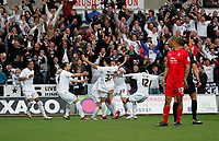 Pictured: Leon Britton celebrates putting the swans one nil up<br />