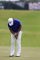 Yusaku Miyazato (JPN) putts on the 10th green during Saturday's Round 3 of the 117th U.S. Open Championship 2017 held at Erin Hills, Erin, Wisconsin, USA. 17th June 2017.<br /> Picture: Eoin Clarke | Golffile<br /> <br /> <br /> All photos usage must carry mandatory copyright credit (&copy; Golffile | Eoin Clarke)