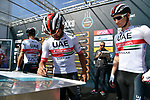 Fernando Gaviria (COL) UAE Team Emirates at sign on before the start of Stage 5 of the Race of the Two Seas, the 54th Tirreno-Adriatico 2019, running 180km from Colli al Matauro to Recanati, Italy. 17th March 2019.<br /> Picture: LaPresse/Gian Mattia D'Alberto | Cyclefile<br /> <br /> <br /> All photos usage must carry mandatory copyright credit (© Cyclefile | LaPresse/Gian Mattia D'Alberto)