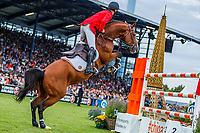 BEL-Niels Bruynseels rides Utamaro d'Ecaussines during the Mercedes-Benz CSIO5* Nationenpreis. 2019 GER-CHIO Aachen Weltfest des Pferdesports. Thursday 18 July. Copyright Photo: Libby Law Photography