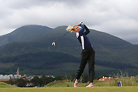 Cecilie BS Nielsen (DEN) in a bunker on the 2nd tee during Round 1 of the Women's Amateur Championship at Royal County Down Golf Club in Newcastle Co. Down on Tuesday 11th June 2019.<br /> Picture:  Thos Caffrey / www.golffile.ie<br /> <br /> All photos usage must carry mandatory copyright credit (© Golffile | Thos Caffrey)