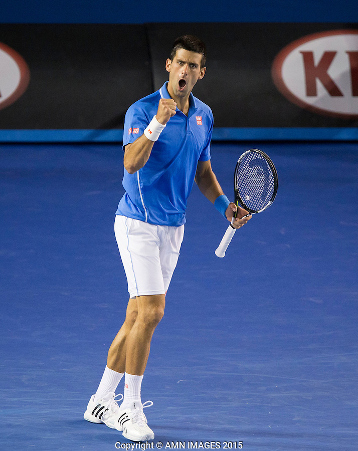 NOVAK DJOKOVIC (SRB)<br /> <br />  - Australian Open 2015 - Grand Slam -  Melbourne Park - Melbourne - Victoria - Australia  - 28 January 2015. <br /> &copy; AMN IMAGES