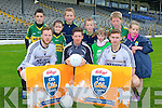 Kerry footballers Brendan Kealy, Kieran O'Leary and James O'Donoghue launched the 2014 Kellogg's Cúl Camps with l-r: Cian O'Connor, Amy O'Connor, Connie Cremin,  Olive Cremin, Sinead Byrne, Harry Byrne and Grainne Byrne