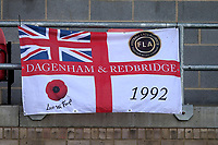 Dagenham flag during Dagenham & Redbridge vs Chesterfield, Vanarama National League Football at the Chigwell Construction Stadium on 15th September 2018