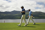 Graeme McDowell and Damien McGrane walk off the 2nd tee during Day 1 of the 3 Irish Open at the Killarney Golf & Fishing Club, 29th July 2010..(Picture Eoin Clarke/www.golffile.ie)