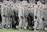 November 12, 2016 - Colorado Springs, Colorado, U.S. -  Air Force Academy Corps of Cadets parade into Falcon Stadium prior to the NCAA Football game between the Colorado State University Rams and the Air Force Academy Falcons, Falcon Stadium, U.S. Air Force Academy, Colorado Springs, Colorado.  Air Force defeats Colorado State 49-46.