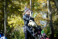 Middleton's Katherine Meier looks through her rangefinder on No. 11 during the Wisconsin WIAA state girls high school golf tournament on Monday, 10/14/19 at University Ridge Golf Course