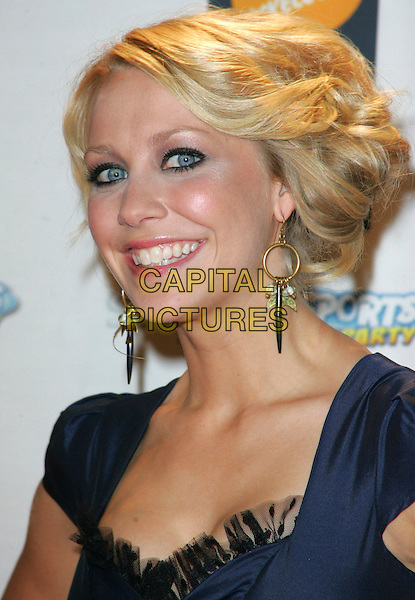 LAURA HAMILTON .Nickelodeon Kids Choice Awards at the Excel Centre, London, England, September 13th 2008..portrait headshot blue earrings  gold.CAP/ROS.©Steve Ross/Capital Pictures