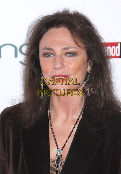 JACQUELINE BISSET.The Hollywood  Reporter Honoring Oscar Nominees  held at The Getty House,  Los Angeles, California, USA, 5th March 2010..portrait headshot  brown velvet necklace make-up earrings .CAP/ADM/TC.©T. Conrad/AdMedia/Capital Pictures.