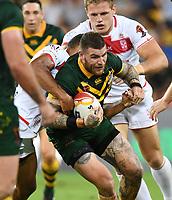 Josh Dugan.<br /> RLWC Mens Final.<br /> Australia v England.<br /> Suncorp Stadium. Brisbane, Australia<br /> Saturday 2 December 2017.<br /> Picture : NRL Photos MANDATORY CREDIT/BYLINE : Tertius Pickard/SWpix.com/PhotosportNZ