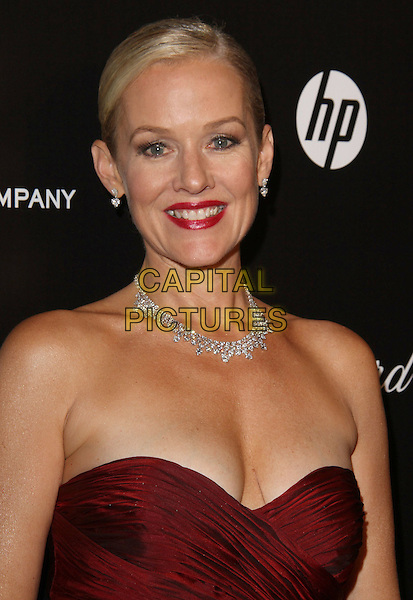Penelope Ann Miller.The Weinstein Company 2012 Golden Globe Awards After Party held at  Bar 210 at the Beverly Hilton Hotel, Hollywood, California, USA..January 15th, 2012.globes headshot portrait necklace red strapless lipstick maroon burgundy.CAP/ADM/CH.©Charles Harris/AdMedia/Capital Pictures