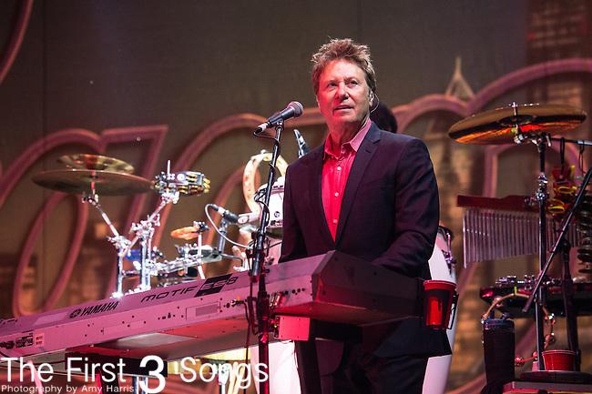 Lou Pardini of Chicago performs at Riverbend Music Center in Cincinnati, Ohio.