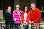l-r  Sharon Roche, Maria Conway, ( Friend of Console ), Amber Kavanagh and Denis Lenihan at the Console Celebration of Light at St Brendan's Church on Sunday. A ceremony of song, music, poetry and reflection for Families and friends of people lost through suicide in Kerry