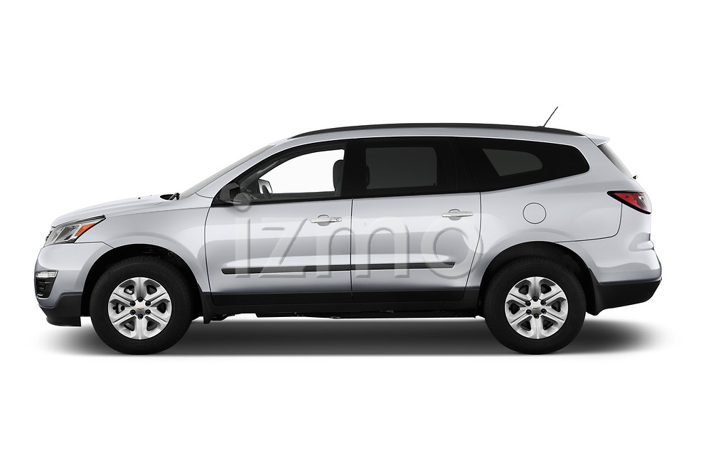 Car Driver side profile view of a 2017 Chevrolet Traverse LS-FWD 5 Door SUV Side View