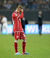 FUSSBALL 1. BUNDESLIGA   SAISON   2012/2013: RELEGATION   RUECKSPIEL 1. FC Kaiserslautern - TSG 1899 Hoffenheim         27.05.2013 Mitchell Weiser (1. FC Kaiserslautern)  ist nach dem Abpfiff enttaeuscht