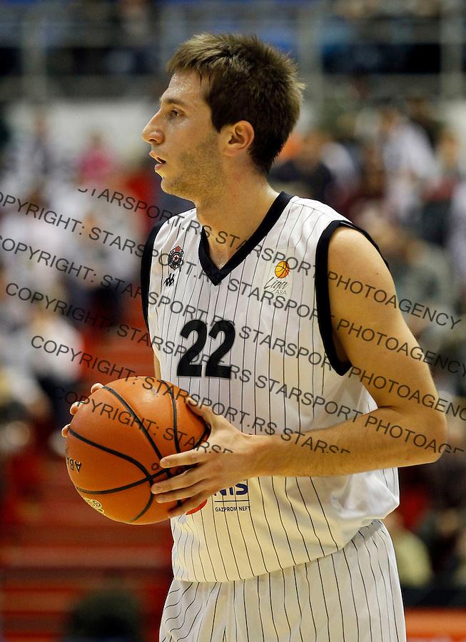 Kosarka, ABA League, season 2010/2011.Partizan Vs. Radnicki (Kragujevac).marko Cakarevic.Belgrade, 16.10.2011..foto: Srdjan Stevanovic/Starsportphoto.com ©