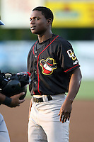 August 16 2008:  D'Marcus Ingram (8) of the Quad Cities River Bandits, Class-A affiliate of the St. Louis Cardinals, during a game at Pohlman Field in Beloit, WI.  Photo by:  Mike Janes/Four Seam Images