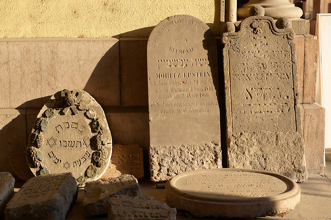 Jewish grave stones at the Synagogue. Budapest, Hungary