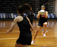 06.10.2014 Silver Fern Grace Rasmussen in action at the Silver Ferns training ahead of the netball test match againt Australia in Melbourne. Mandatory Photo Credit ©Michael Bradley.