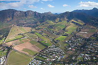 Wine Farm Aerial, Helderberg, Stellenbosch, South Africa.