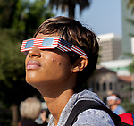 Hundreds of people gathered at the State Capitol in Sacramento, California on August 21, 2017 to view to solar eclipse.  Photo/Victoria Sheridan 2017