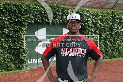 August 7, 2009:  Outfielder/Pitcher Deshun Dixon (10) of the Baseball Factory team during the Under Armour All-America event at Wrigley Field in Chicago, Illinois.  (Copyright Mike Janes Photography)