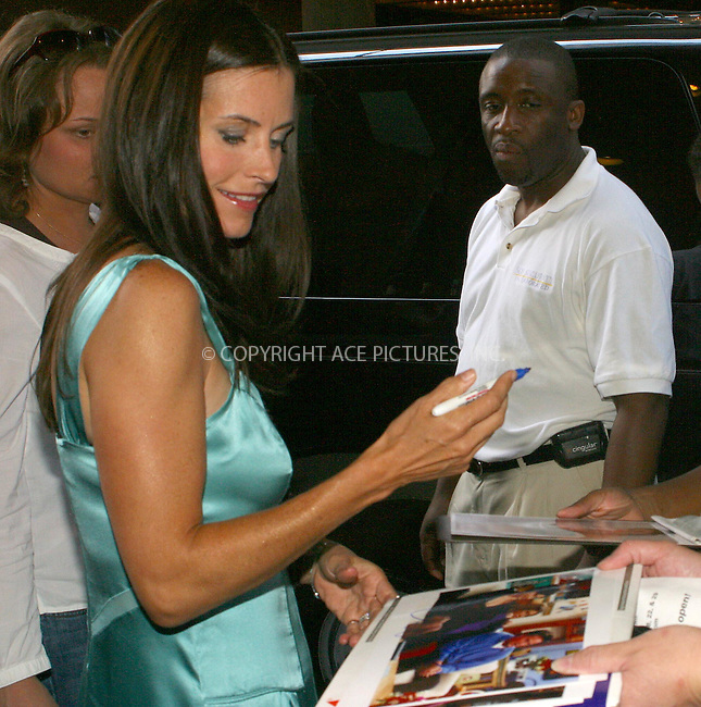 WWW.ACEPIXS.COM . . . . .  ....NEW YORK, JULY 22, 2005....Courtney Cox having her picture taken and signing autographs before her appearance on TRL....Please byline: PAUL CUNNINGHAM - ACE PICTURES..... *** ***..Ace Pictures, Inc:  ..Craig Ashby (212) 243-8787..e-mail: picturedesk@acepixs.com..web: http://www.acepixs.com